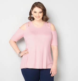 2ef7325510 Plus Size Cut Out Shoulder Tops - ShopStyle