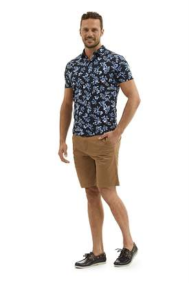 Country Road Contrast Floral Polo