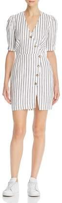Saylor Striped Linen Dress