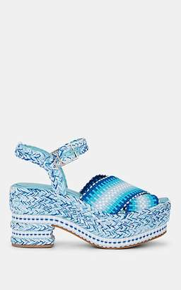 ANTOLINA Women's Brenda Cotton Platform Sandals - Blue