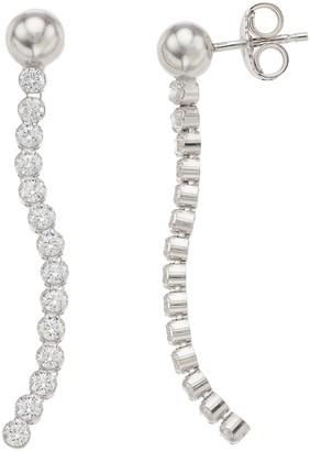 Sterling Silver Cubic Zirconia Dangle Drop Earrings