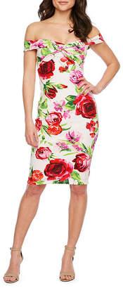 d57dc467466526 PREMIER AMOUR Premier Amour Off The Shoulder Floral Sheath Dress