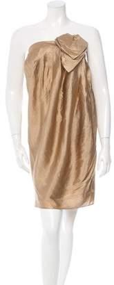 3.1 Phillip Lim Gold Strapless Dress