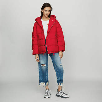 Maje Hooded puffer jacket with zip