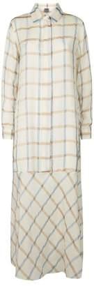 Lorena Antoniazzi Check Maxi Shirt Dress