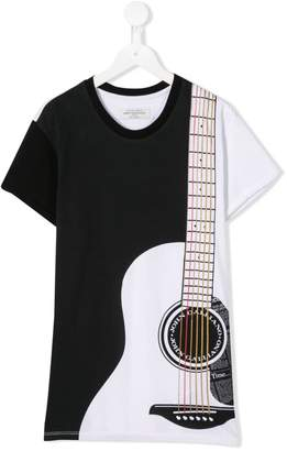 John Galliano TEEN guitar print T-shirt