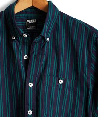 Todd Snyder Stripe Button Down Shirt in Green