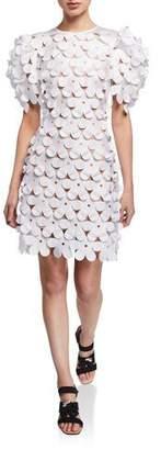 Paskal Laser-Cut Floral 3D Structured Dress