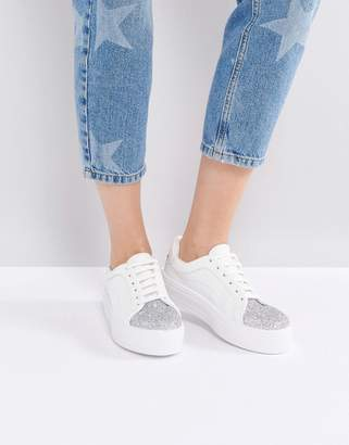 ASOS DAZZLE Lace Up Sneakers $40 thestylecure.com