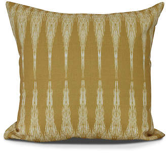 One Kings Lane Ikat Outdoor Pillow - Gold