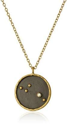 Satya Jewelry Zodiac Gold-Plated Garnet Capricorn Constellation Necklace (18-Inch)