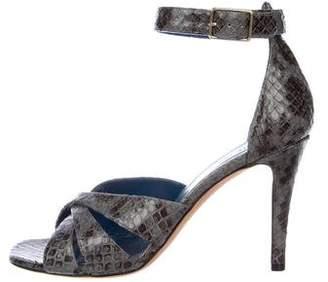 Celine Snakeskin Ankle Strap Sandals w/ Tags