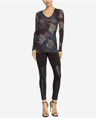 BCBGMAXAZRIA Sea of Life Printed Knit Top