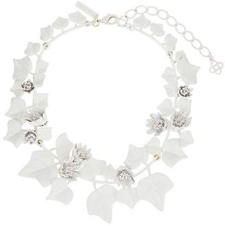 Oscar de la Renta painted ivy necklace