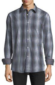 Tie-Dye Check Sport Shirt