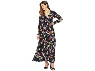 Unique Vintage Floral Long Sleeve Farrah Maxi Dress