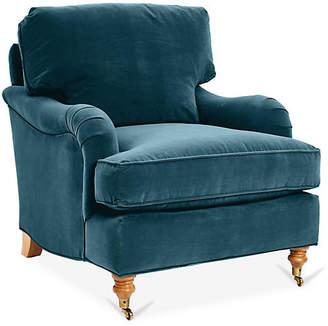 Robin Bruce Brooke Club Chair - Admiral Blue Crypton