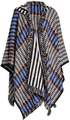 Missoni Fringed Wool Cape with Cashmere