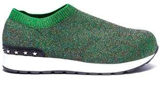 WiNK 'Liquorice' low top glitter Lurex knit kids sneakers