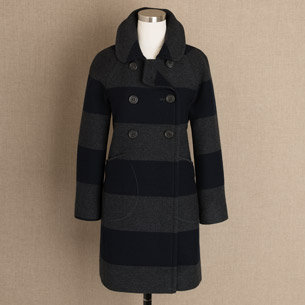 Striped town coat