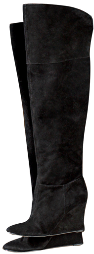 Suede Over-the-Knee Wedge Boot