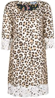 Blumarine leopard print shift dress