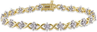 Rina Limor Fine Jewelry 18K Over Silver 0.97 Ct. Tw. Diamond Bracelet