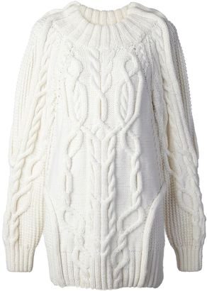 Vera Wang cable knit sweater $1,895 thestylecure.com