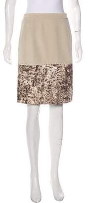 Oscar de la Renta Silk Knee-Length Skirt