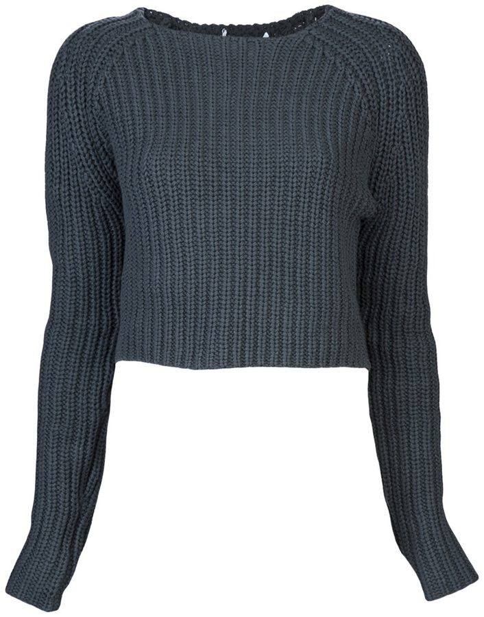 T By Alexander Wang Chunky cropped sweater