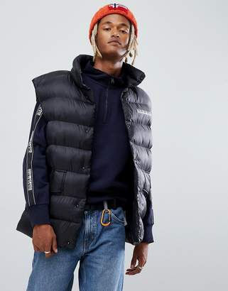 Napapijri Akke oversized vest with back logo in black