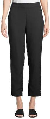 Eileen Fisher Slim Ankle Pants in Wrinkle-Resistant Knit, Plus Size