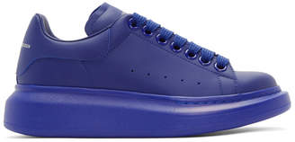 Alexander McQueen Blue Oversized Sneakers