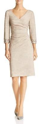 Eliza J Embellished Faux-Wrap Dress
