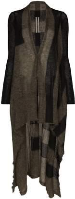 Rick Owens long asymmetric cardigan