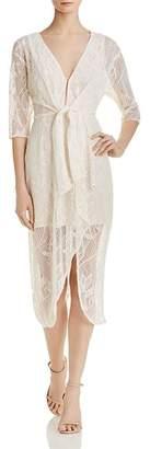 WAYF Prato Illusion Lace Dress