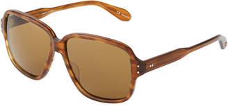 Garrett Leight Strongs 60 Square Plastic Sunglasses