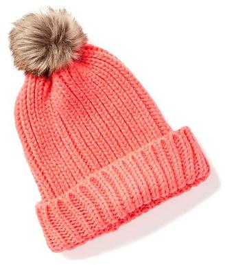 Sweater-Knit Pom-Pom Beanie for Women $14.94 thestylecure.com