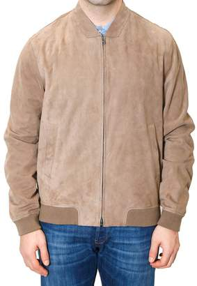 Herno Bomber Jacket In Suede
