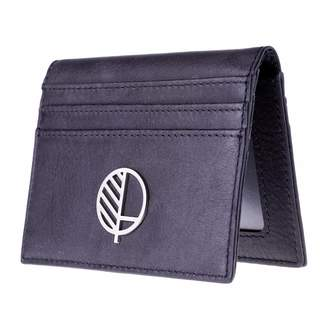 Drew Lennox - Real British Leather ID Card Holder in Charcoal Black
