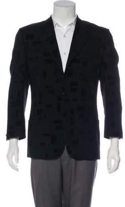 Gianni Versace Velvet-Accented Blazer black Velvet-Accented Blazer