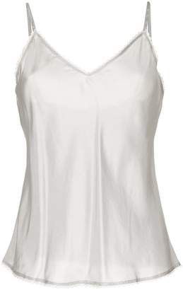 Lee Mathews V-neck cami top with lace