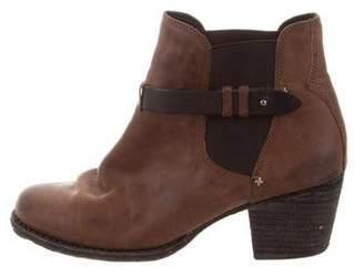 Rag & Bone Leather Round-Toe Booties