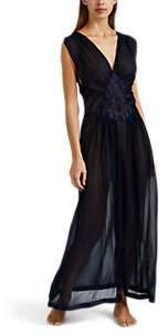 Raven & Sparrow by Stephanie Seymour Women's Madelyn Silk Chiffon Gown - Navy