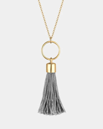 Necklace Circle Tassel Festival Boho Hippie 925 Sterling Silver Gold Plated