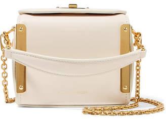 Alexander McQueen Nano Box Bag Leather Shoulder Bag - White