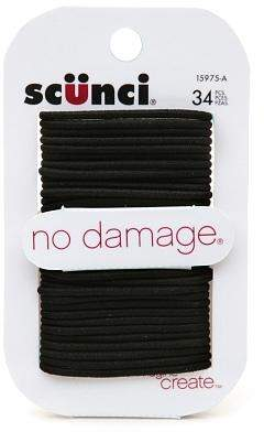 Scunci No Damage Hair Elastics Small Black