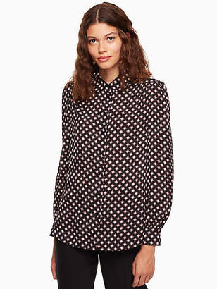 Kate Spade Diamond long sleeve shirt