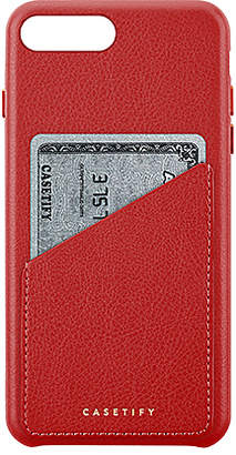 Leather Card iPhone 6/7/8 Case in Red Casetify xrHpJTOkY