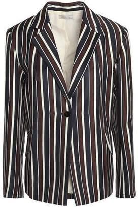 Nina Ricci Striped Wool And Silk-Blend Twill Blazer